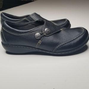Clarks Collection Ashland Leather Shoe 6.5 xw